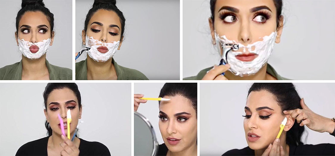 Beauty Face Shaving