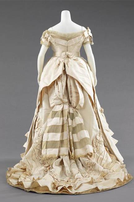 Charles Frederick Worth's bustle evening gown, circa 1872