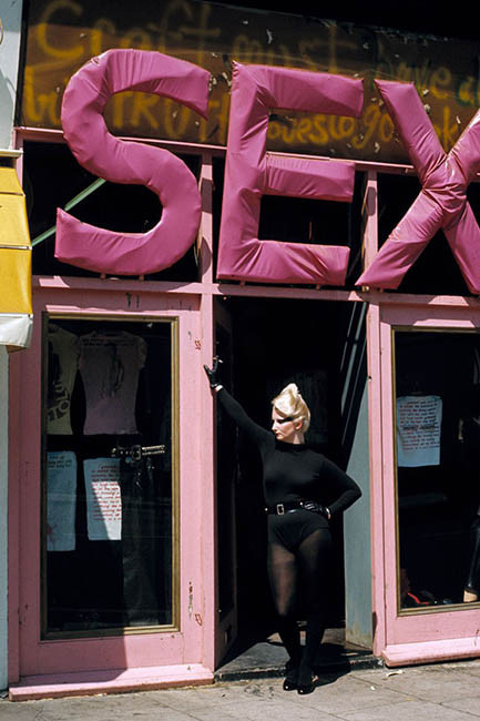 Vivienne Westwood's Sex store in London's King's road