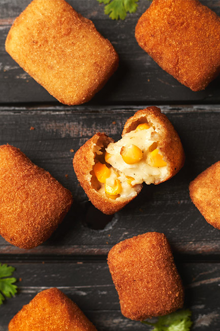 corn and cheese nuggets