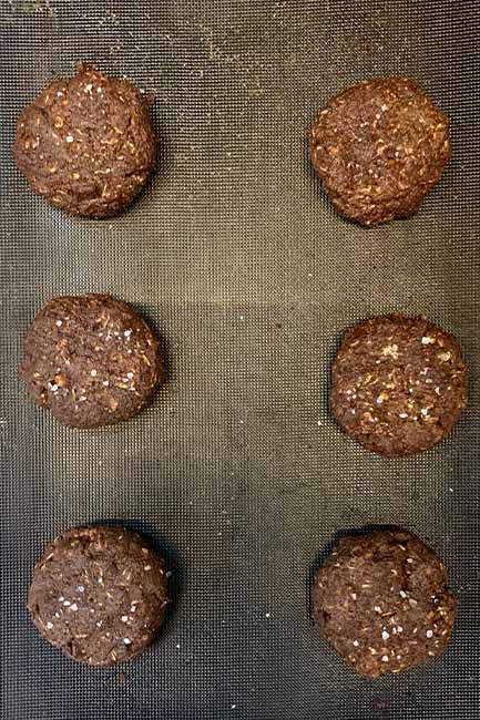 Dark chocolate monster cookies