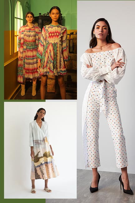 From kitschy prints inspired by childhood memories to landscape sceneries and OTM tie-dye, these statement pieces will lift your mood on the gloomiest of days. Whether you prefer subtle, muted tones or are the OTT type, there is something for everyone.