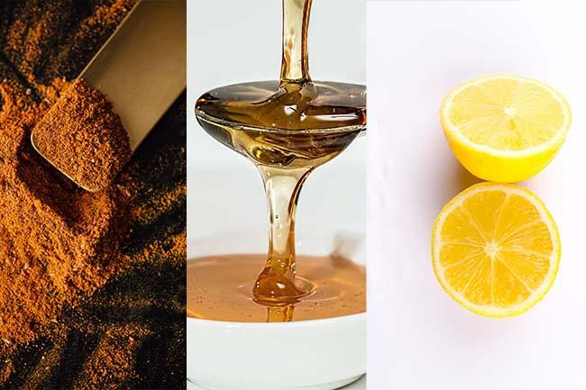 Homemade Face Mask Turmeric-Honey-Lemon Pack