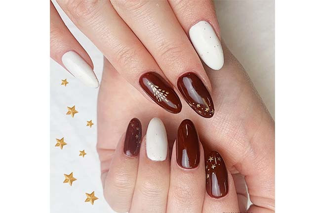 Simple Nail Art Designs Candy Cane Combo