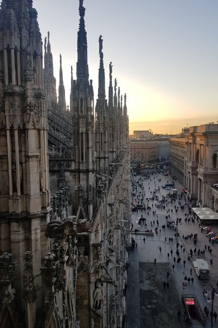 View from top of the Duomo Milano
