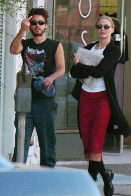 Jared Leto and Cameron Diaz in Los Angeles