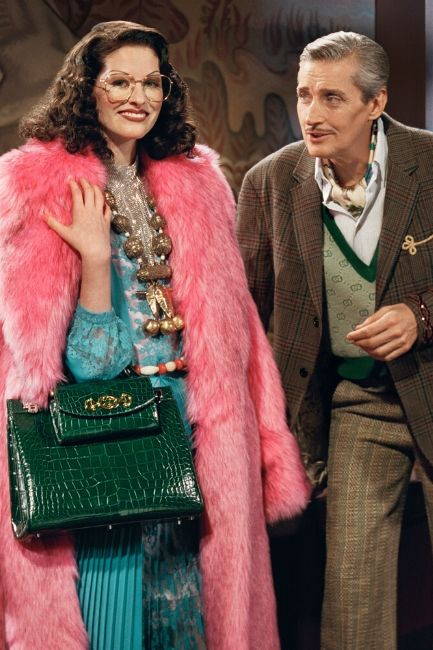 Gucci's S/S 19 encapsulates the glitz and showmanship of old Hollywood