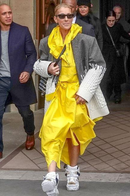 Celine Dion at  Couture Week  in Paris