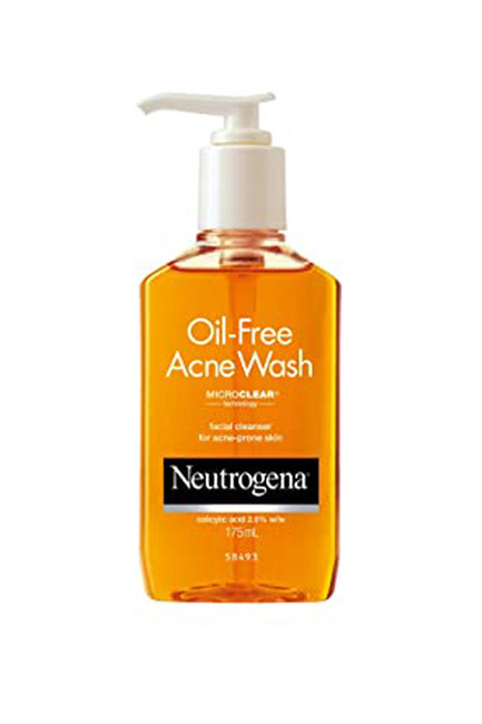 Acne fighting face washes