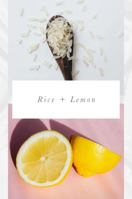 Homemade Face Scrubs Rice and Lemon Scrub