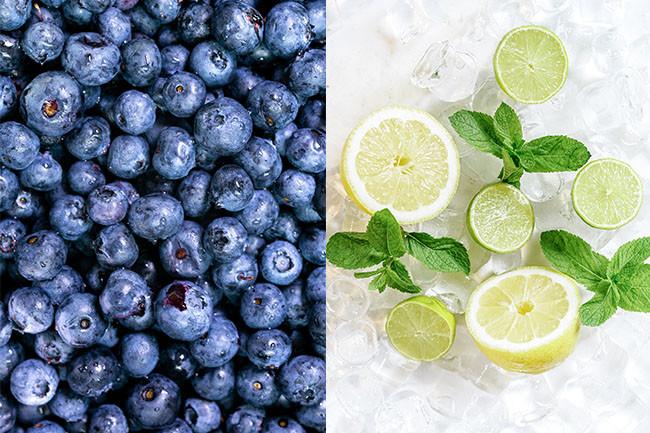 Detox Drink Blueberry Mint And Lemon Iced Tea