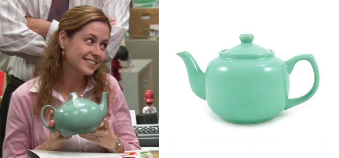 the office pam teapot