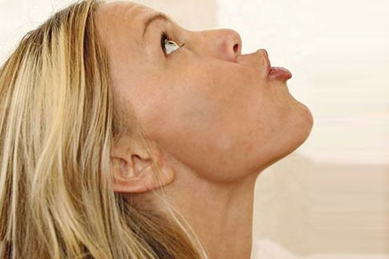 Double Chin Exercises Blowing Air
