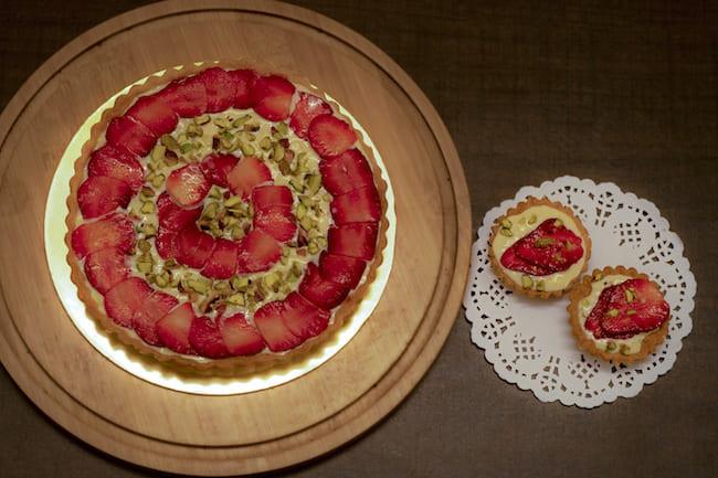 Strawberry And Rabdi Tart