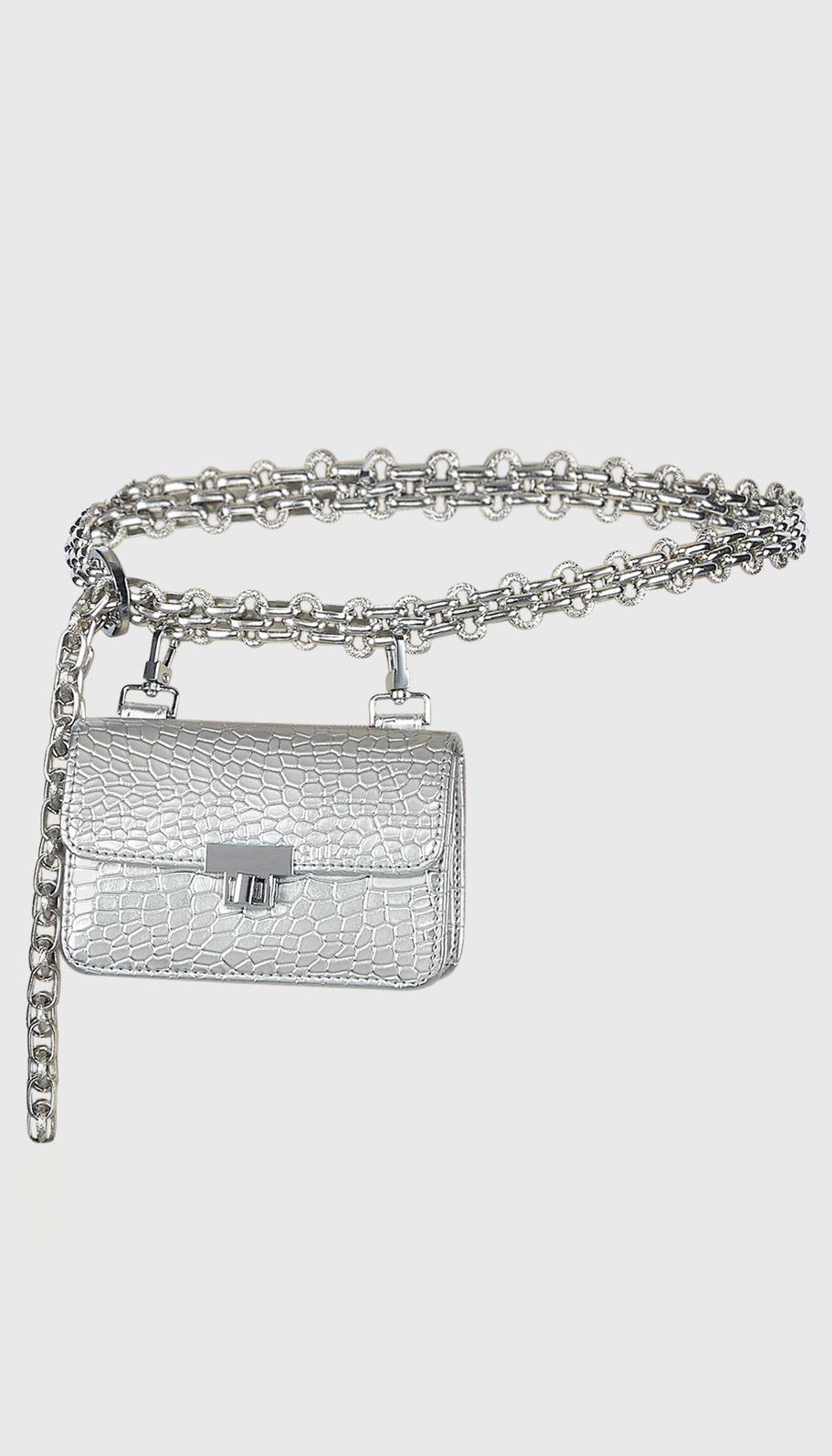 chain link belt bag