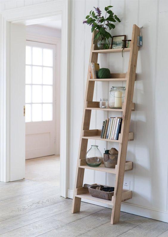 ladder shelving unit