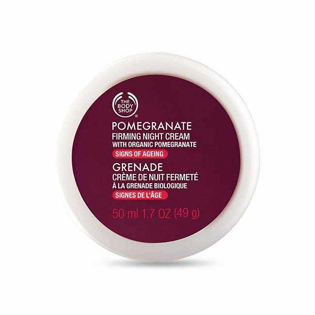 The Body Shop Pomegranate Firming Night Cream, price on request