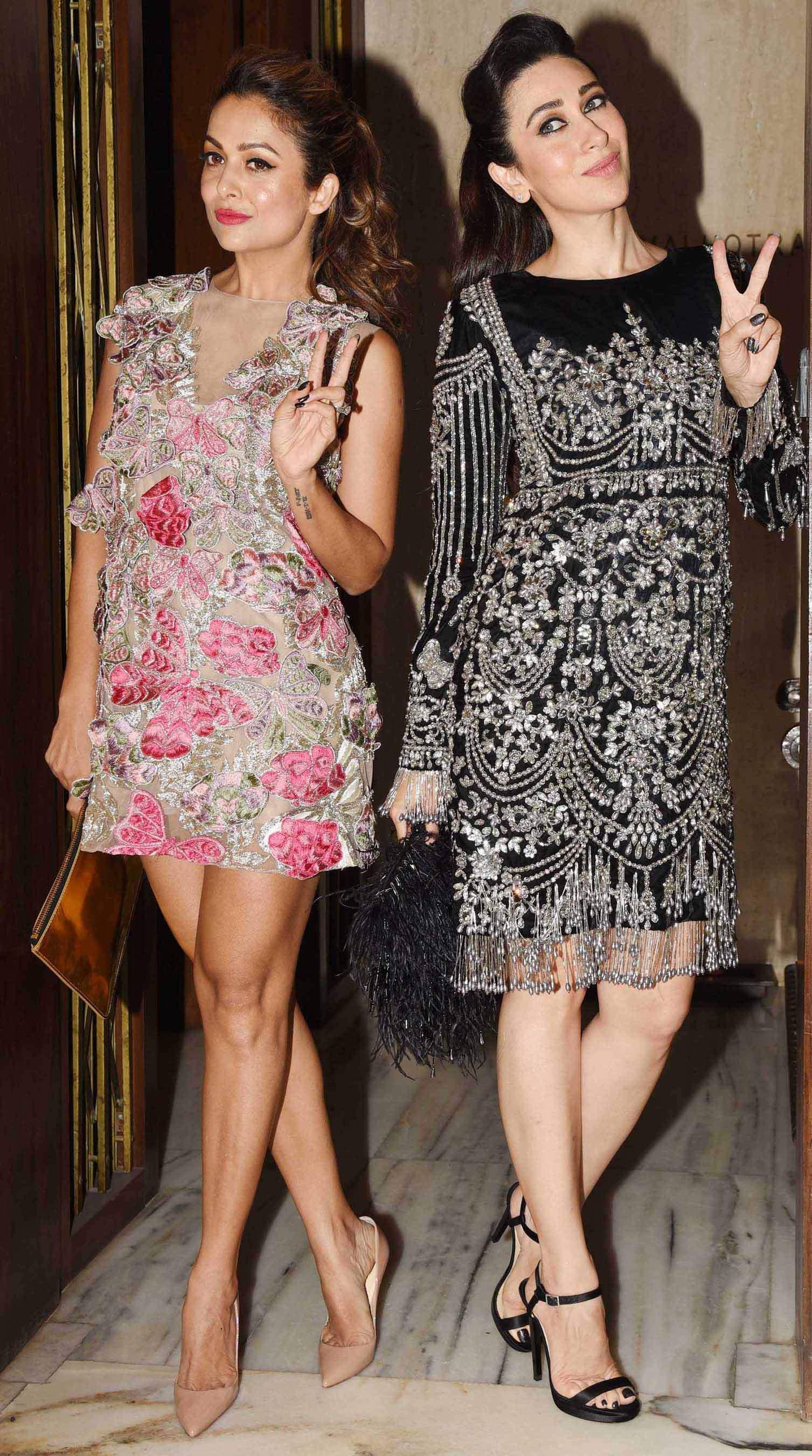Amrita Arora and Karisma Kapoor