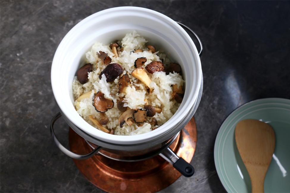 Five Treasure Mushroom Fried Rice with Truffle Oil