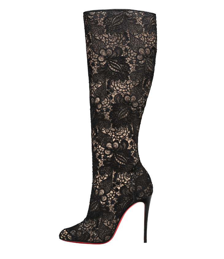 Lace boots, Christian Louboutin