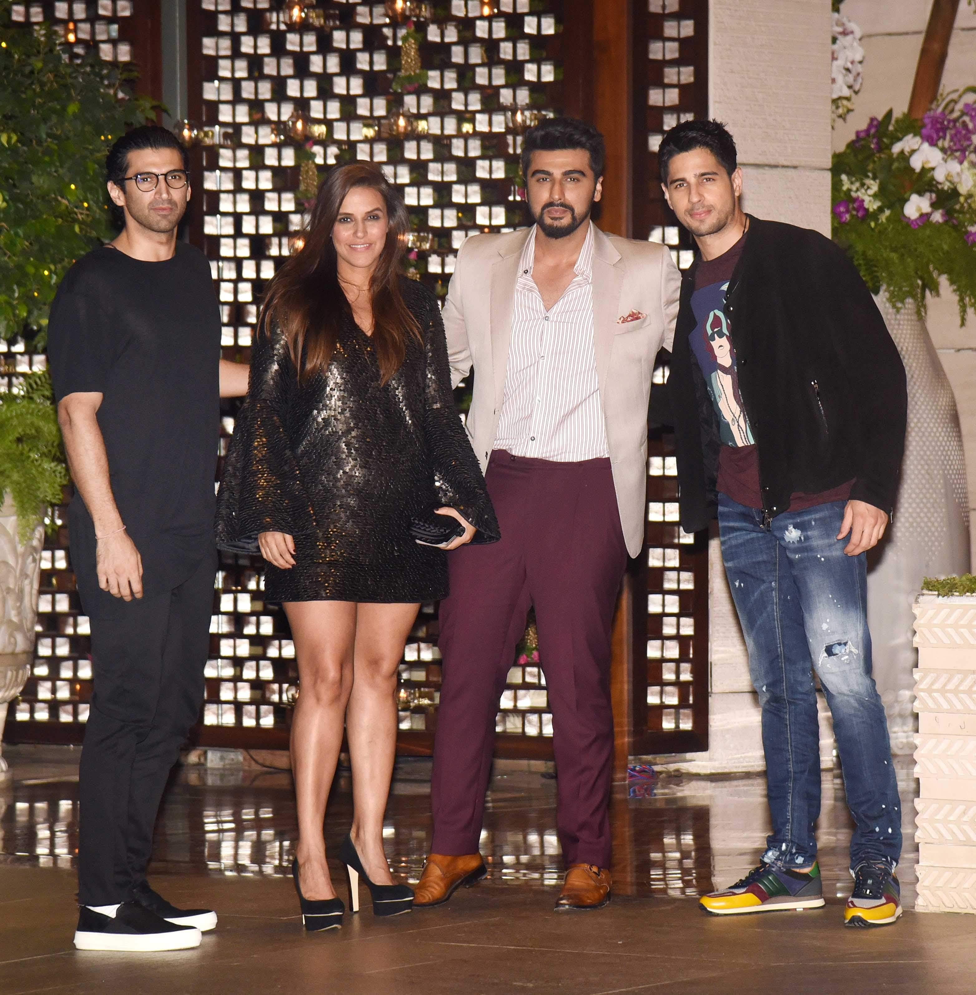 Aditya Roy Kapur, Neha Dhupia, Arjun Kapoor, Sidharth Kapoor